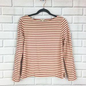 J. Crew Red/Ivory Striped T-Shirt